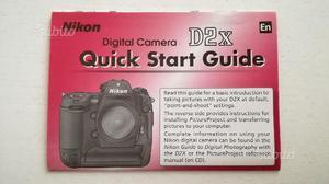 Guida rapida Nikon D2X - En