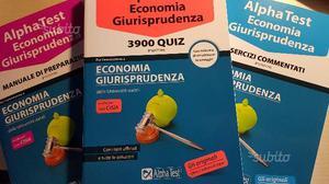 Kit di libri Alpha test economia e giurisprudenza