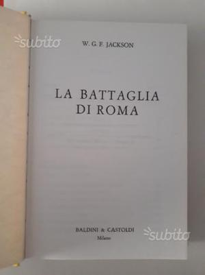 Libro LA BATTAGLIA DI ROMA WW2