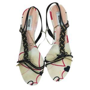 sandali tela e pelle