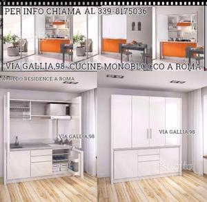Cucina armadio a scomparsa posot class - Armadio cucina monoblocco ...