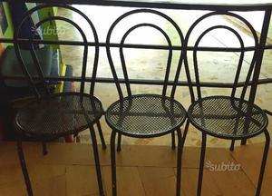 Panchina in ferro da giardino ferrara posot class for Sedie giardino ferro