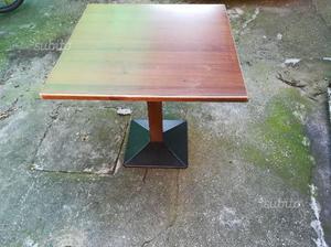Tavolino quadrato tipo bar legno metallo