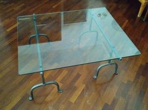 Tavolini In Vetro E Ferro Battuto : Tavolino in vetro e ferro battuto posot class