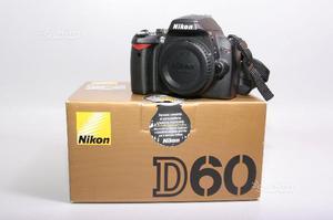 Fotocamera digitale reflex nikon d60. solo corpo