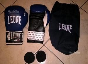Guanti da boxe leone, sacchetto e fasce