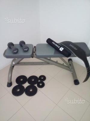 Panca regolabile + pesi