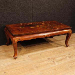 Tavolino francese in legno laccato a cineseria