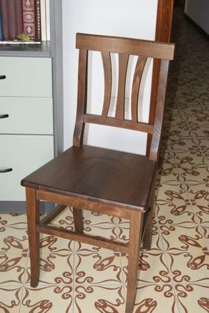 5 Cinque Sedie legno massello seduta legno
