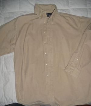 Camicia Ralph Lauren L beige in vellutino