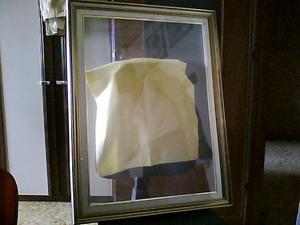 Cornice con vetro, misura interna 50 x 70 cm, con bordi