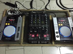 Pioneer cdj 200 e mixer vmx 300usb con flight case