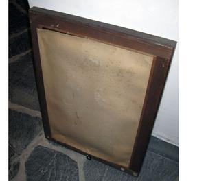 Antico specchio con cornice in legno
