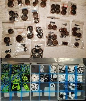 Lotto di dilatatori in legno e plastica
