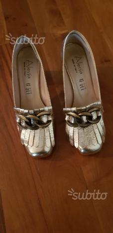 Scarpe albano dorate   Posot Class