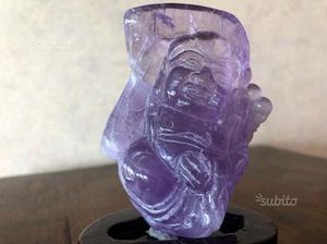 Antichità Buddha felice cinese in ametista