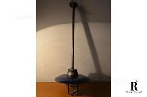 Lampada industriale in ceramica smaltata