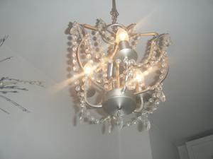 Plafoniere Con Gocce Di Cristallo : Lampadario gocce di cristallo moderna luce a led