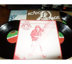 ACDC (High Voltage, Dirty Deeds....., Powerage) 3 x LP 33
