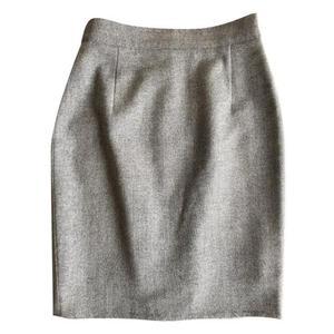 cacharel grey wool mini pencil skirt