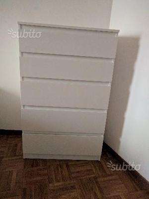 Ikea Cassettiera Malm 5 Cassetti.Cassettiera Ikea 5 Cassetti Pino Massiccio Posot Class