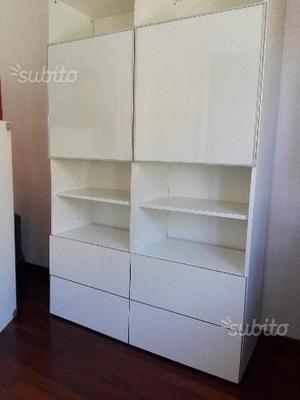 Anta besta tofta 60x64 bianco lucido posot class - Mobile bianco ikea ...