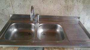 lavello doppio in acciaio