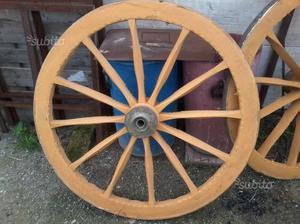 Coppia di ruote da carretto da 120 cm