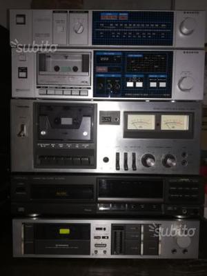 Hi fi, lettore cd, cassette, ampli, sintonizzatori