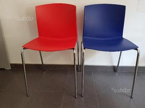 Sedie Blu Elettrico : Sedie in polipropilene blu elettrico posot class