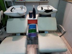 Vendita set 3 lavatesta per parrucchieri posot class for Arredamento per parrucchieri