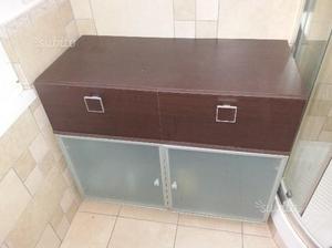 Coppia mobili per bagno in wenge'