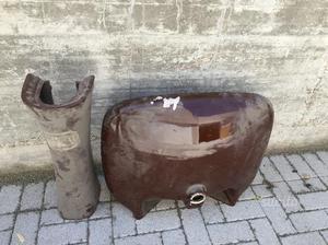 Lavabo anni '70 ceramicaPOZZI GINORI color marrone