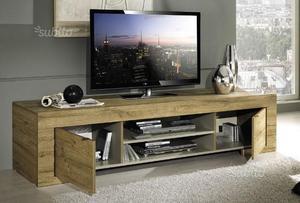 Mobile tv basso finitura legno