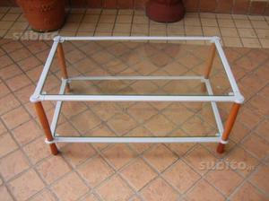 Tavolino da salotto in ferro e legno