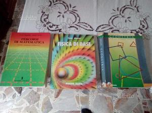 3 LIBRI di matematica, geometra e fisica di base