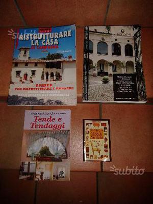 4 Libri su arredo, mobili, tendaggi