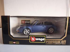 Bburago 1/18 ITALY Porsche 911 Carrera cabriolet