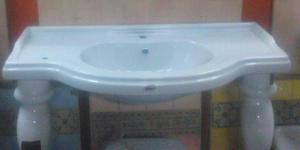 Lavabo consolle in ceramica con piedini - gsi old antea