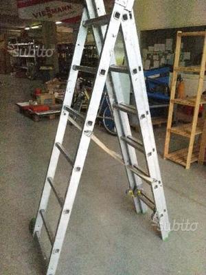 Scala doppia estensibile e regolabile alluminio