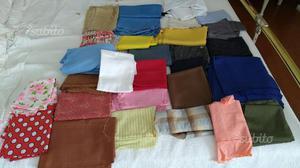 Scampoli di stoffa stock 145 pezzi varie metrature