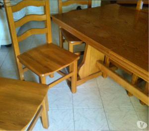 TAVOLO allungabile + SEDIE legno massello