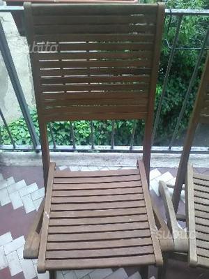 Tavolo legno con 4 sedie