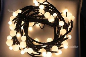 Catena luci led 2.5m luce bianco caldo IP44