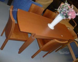 Tavolo allungabile Calligaris con 5 sedie