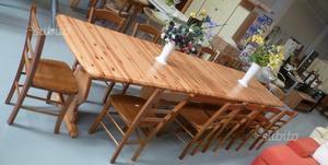 Tavolo da Taverna in legno di abete Nuovo