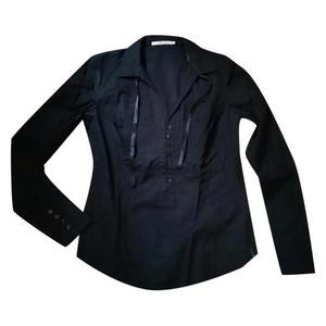 camicia in cotone nero