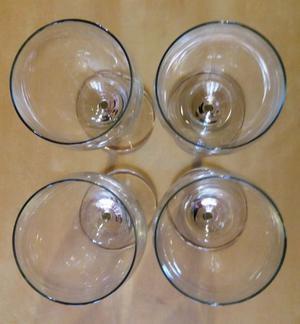 4 bicchieri in cristallo nuovi