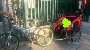 Carrello per bici per trasporto bambini