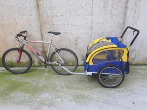 Rimorchio bici per bambini